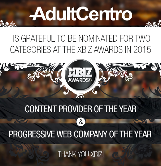 2 XBIZ award nominations this year: Content Provider of the Year and Progressive Web Company of the Year!