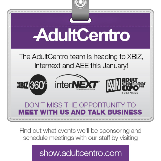 The AdultCentro team is heading to XBIZ, InterNext and AEE this January!