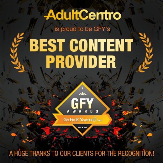 AdultCentro is proud to be GFY's Best Content Provider!